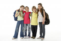 Group of children in Studio Royalty Free Stock Images