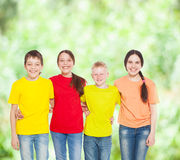 Group children at summer Royalty Free Stock Photography