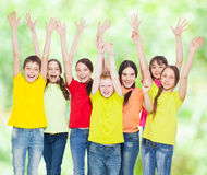 Group children at summer Royalty Free Stock Photos