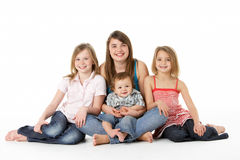 Group Of Children Together In Studio Stock Image
