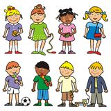 Group of children, vector icon Royalty Free Stock Image