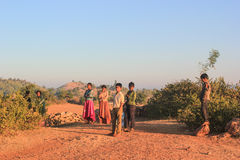 Group of children from village India. Stock Photos