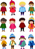 Group of children and winter Stock Image