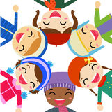 Group of children and winter Stock Photo