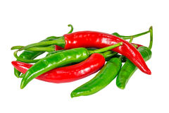 Group of chili pepper. On a white background Royalty Free Stock Images