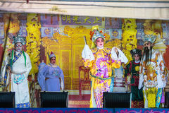 A group of Chinese Opera member perform on stage Royalty Free Stock Photos