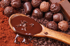 Group of chocolate royalty free stock photo