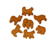 Group Chocolate Animal Cookies Royalty Free Stock Images