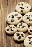 Group of chocolate chip cookies Stock Image