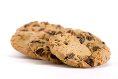 Group of Chocolate Chip Cookies stock images