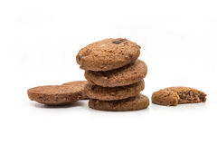 Group of Chocolate Cookies. Royalty Free Stock Photos