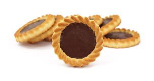 Group of chocolate filled tarts Royalty Free Stock Photo