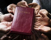 Group of christianity people praying hope together Royalty Free Stock Photos