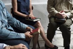 Group christianity people reading bible together Royalty Free Stock Photography
