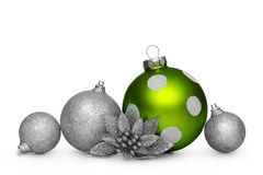 Group of christmas balls isolated on white background Royalty Free Stock Photo