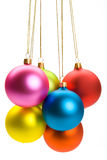 A group of Christmas Baubles Stock Photo