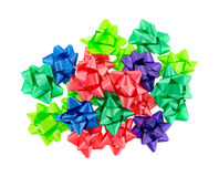 Group of Christmas bows Royalty Free Stock Image
