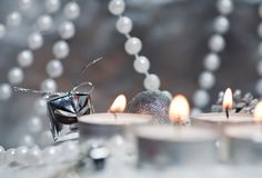 Group of christmas decoration Royalty Free Stock Photography