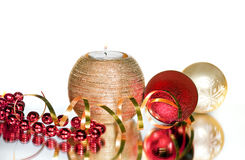 Group of  christmas decoration Royalty Free Stock Photo