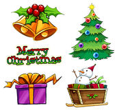A group of christmas decors Royalty Free Stock Photos