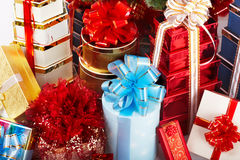 Group of christmas gift box. Royalty Free Stock Image