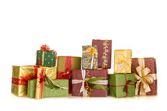 Group of christmas gifts Stock Photo