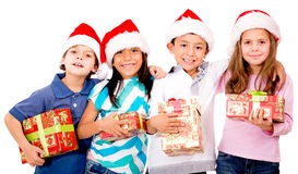 Group of Christmas kids Royalty Free Stock Images