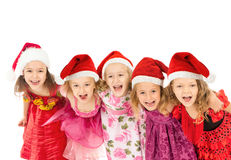 Group of Christmas kids Stock Photography