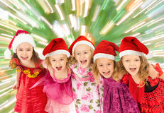 Group of Christmas kids Royalty Free Stock Image