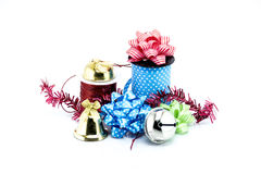 Group of Christmas objects isolated on white background Stock Images