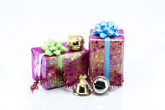 Group of Christmas objects isolated on white background Stock Photo