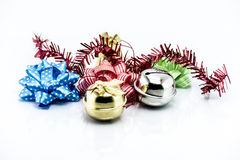 Group of Christmas objects isolated on white background Royalty Free Stock Photos
