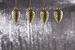A group of Christmas Pine Cone Stock Images