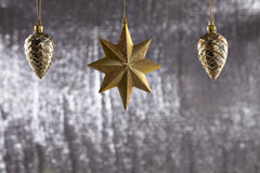 A group of Christmas Pine Cone And star Stock Photography