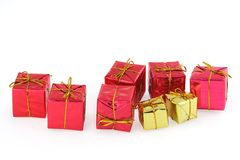 Group of christmas presents Stock Photography