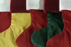 Group of Christmas Stockings. Background of a group of Christmas Stockings Stock Image