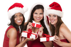 Group of christmas women Royalty Free Stock Photography