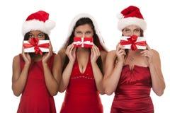 Group of christmas women Royalty Free Stock Photos