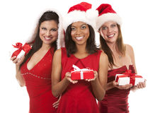 Group of christmas women Royalty Free Stock Photos