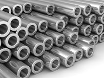 Group of chrome pipe Stock Images