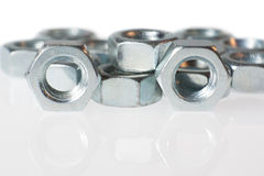 Group chrome screws Royalty Free Stock Photos