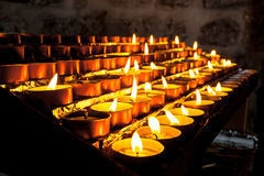Group of Church Candle in a Row Stock Images