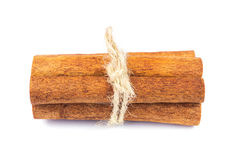 Group of cinnamon sticks isolated on white background. Royalty Free Stock Images