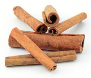 Group of Cinnamon Sticks Stock Photo