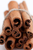 Group of cinnamon sticks white background Stock Photo