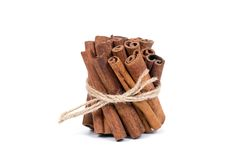 Group of cinnamon sticks Royalty Free Stock Image