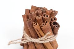 Group of cinnamon sticks stock photos