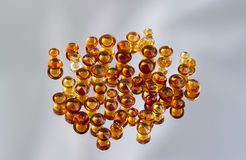Group of citrine gemstones. Stock Photo