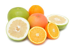 Group of citrus fruits, isolated Royalty Free Stock Photo