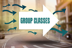 Group classes against new york street Stock Photography